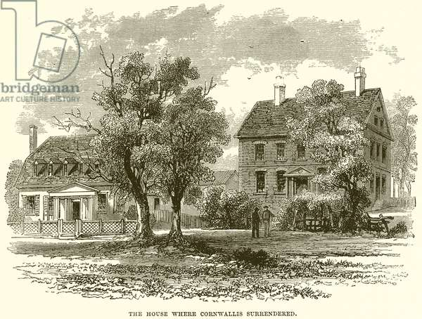 The house where Cornwallis surrendered (engraving)