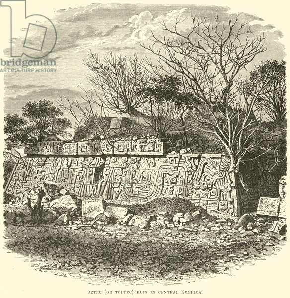 Aztec (or Toltec) Ruin in Central America (engraving)