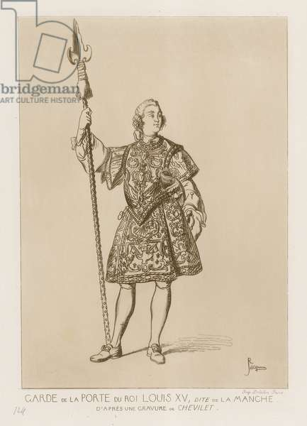 Guard of the Porte of the King Louis XV, dite la manche (engraving)