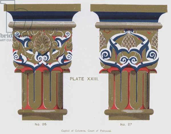 Capital of Columns, Court of Fishpond (colour litho)