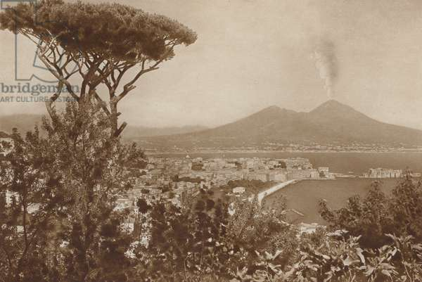 Napoli, Panorama (b/w photo)