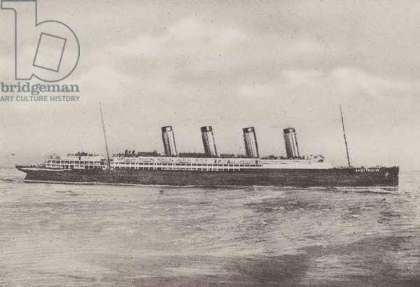 "MSS ""Lusitania"" (b/w photo)"