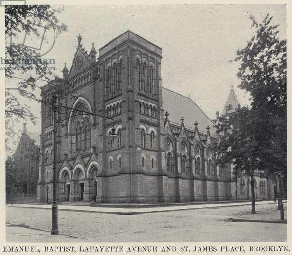 Emanuel, Baptist, Lafayette Avenue and St James Place, Brooklyn (b/w photo)