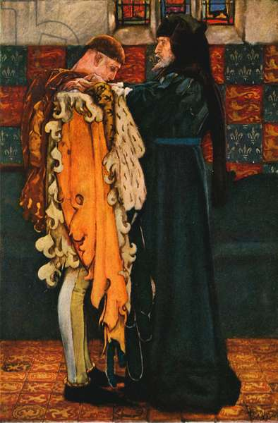King Henry IV and Prince Henry (colour litho)