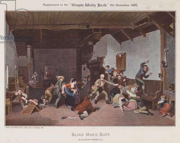 Blind Man's Buff (colour litho)