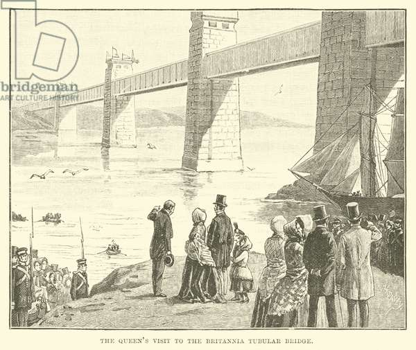 The Queen's Visit to the Britannia Tubular Bridge (engraving)