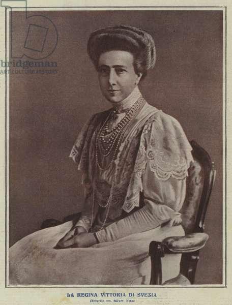 Queen Victoria of Sweden (b/w photo)