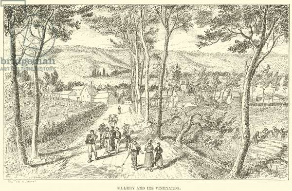Sillery and its Vineyards (engraving)