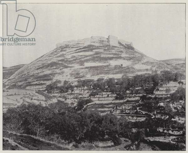 Chobak, the Mount Real of the crusaders (b/w photo)