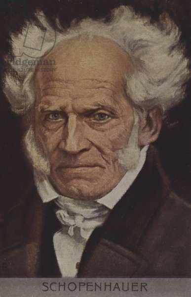 Arthur Schopenhauer (colour litho)