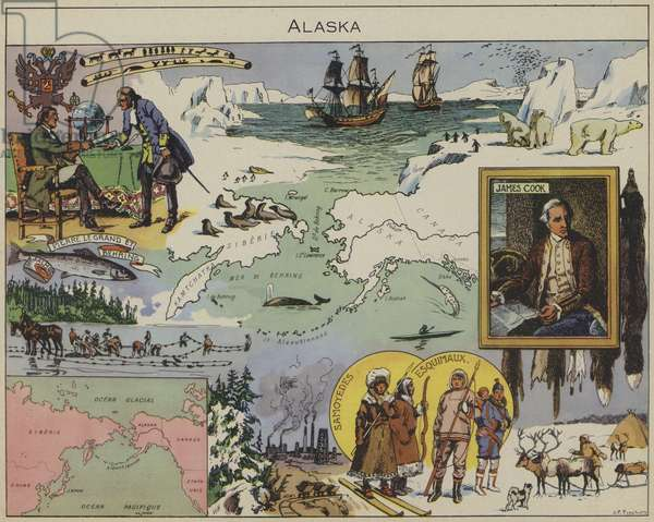 Alaska (colour litho)