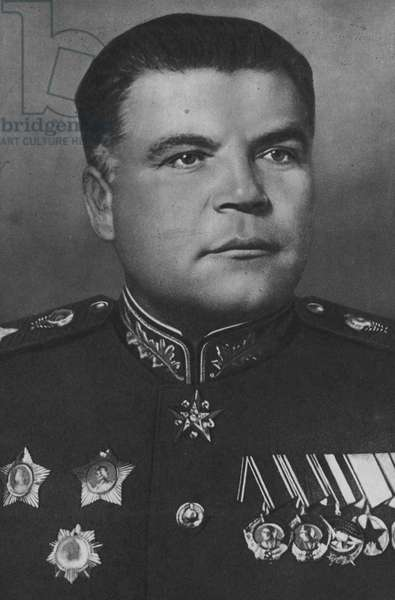 Marshal Malinovsky, Commander 2nd Ukranian Front (b/w photo)
