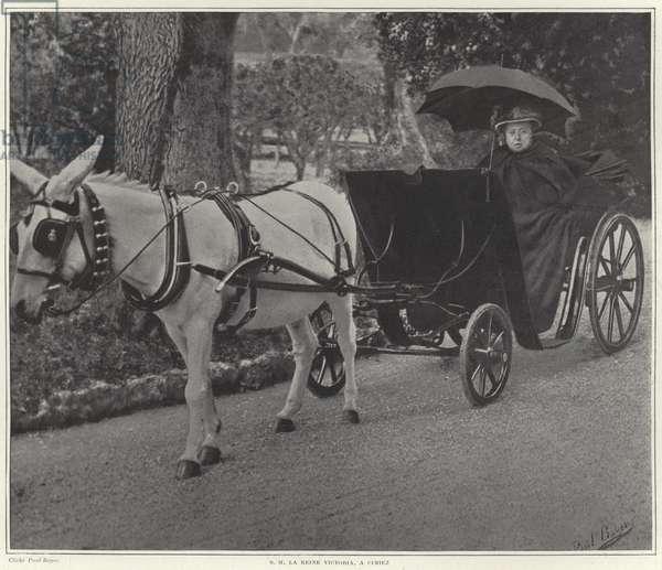 Queen Victoria in Cimiez (colour litho)