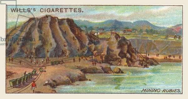 Mining rubies (chromolitho)