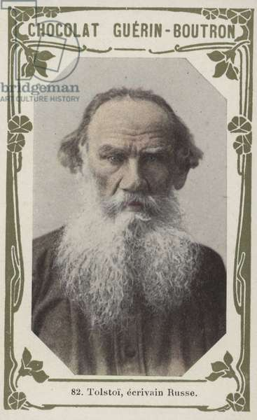 Tolstoi, ecrivain Russe (coloured photo)