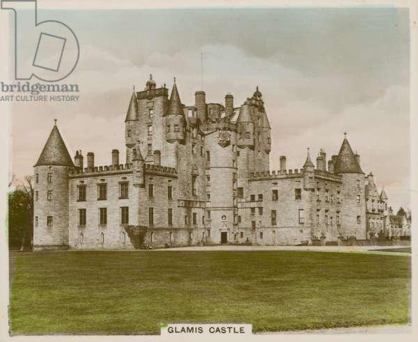 Glamis Castle (coloured photo)
