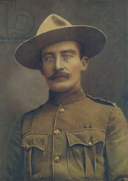 Colonel Robert S. S. Baden-Powell, The Defender of Mafeking. In Field Service Uniform as Colonel of Irregular Horse