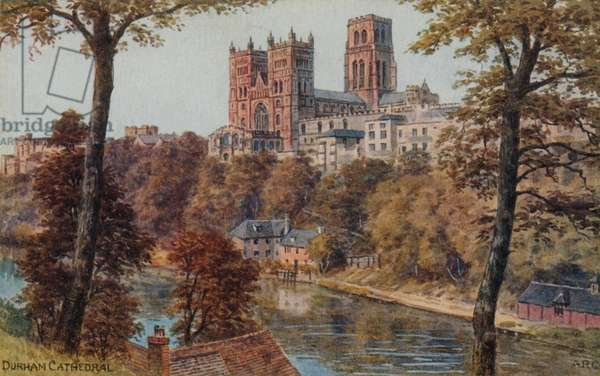 Durham Cathedral (colour litho)