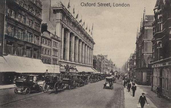 Oxford Street, London (b/w photo)