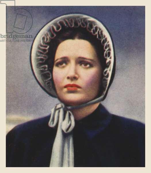 Kay Francis, as Florence Nightingale (colour litho)