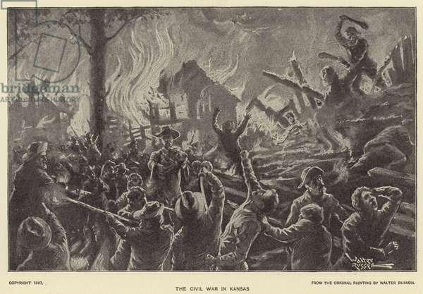 The Civil War in Kansas (litho)