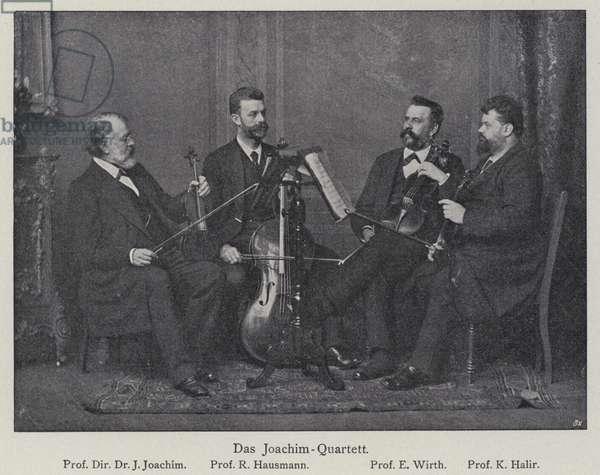 Joachim string quartet, Berlin Philharmonic Orchestra (b/w photo)