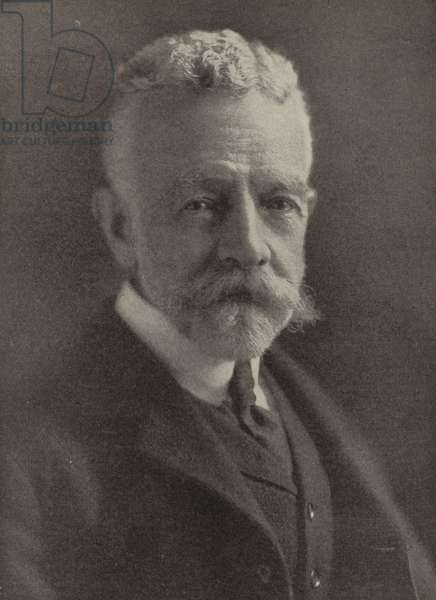 Henry Cabot Lodge, US Senator who opposed President Woodrow Wilson over the Treaty of Versailles and the League of Nations (b/w photo)