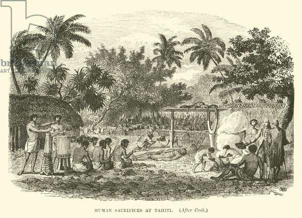 Human sacrifices at Tahiti, after Cook (engraving)