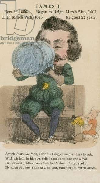 King James I (aquatint)