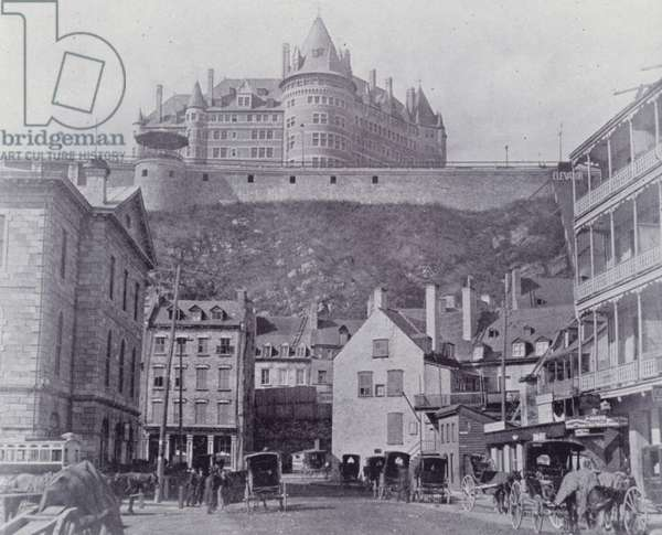 Canada: The Chateau Frontenac, Quebec (b/w photo)