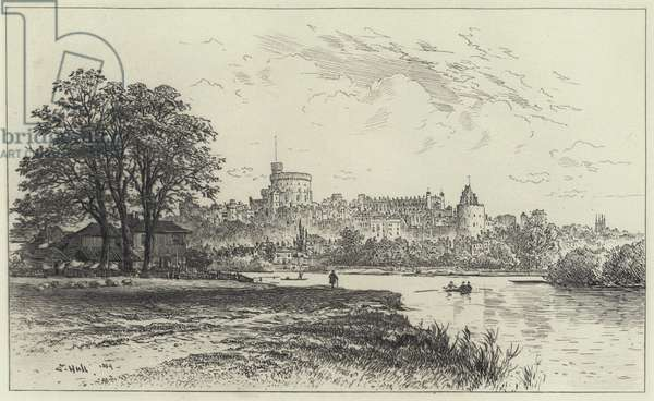 Windsor Castle from the Brocas (engraving)