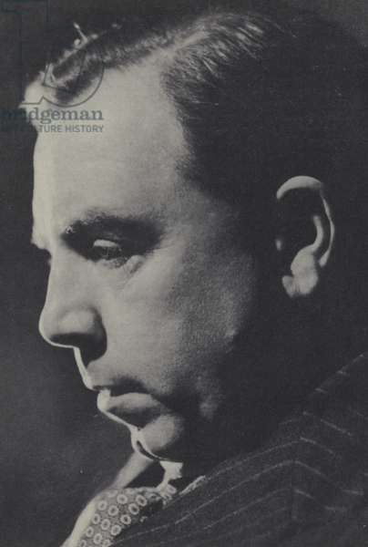 J B Priestley (b/w photo)