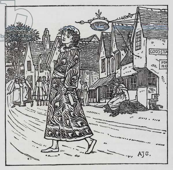 Hans Christian Andersen: The Girl who trod on the loaf (litho)