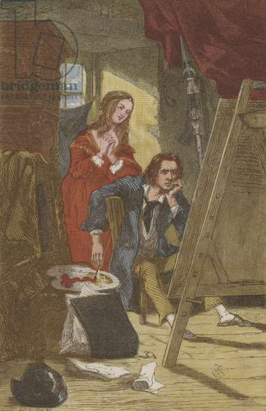 The dowry picture (chromolitho)
