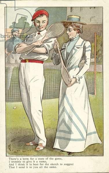 Tennis players (colour photo)