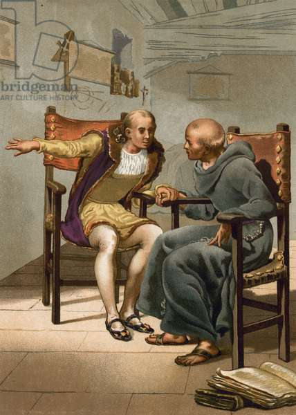 Meeting between Columbus and P Marchena on the return of the first voyage