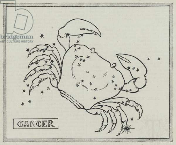 Signs of the zodiac: Cancer (engraving)