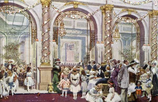 Christmas Festivities for Children, Savoy Hotel (colour litho)