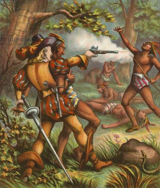 Pocahontas (chromolitho)
