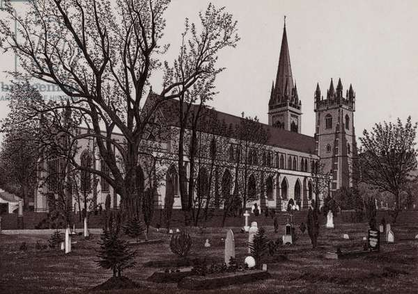 Llandaff Cathedral (litho)