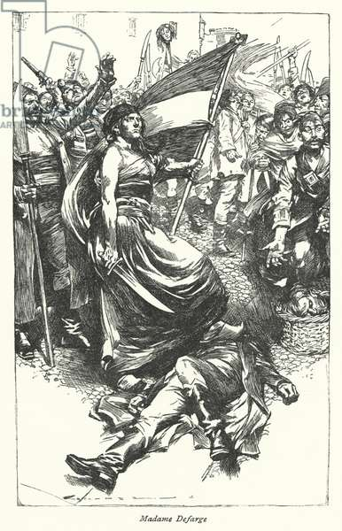 Illustration for A Tale of Two Cities by Charles Dickens (litho)