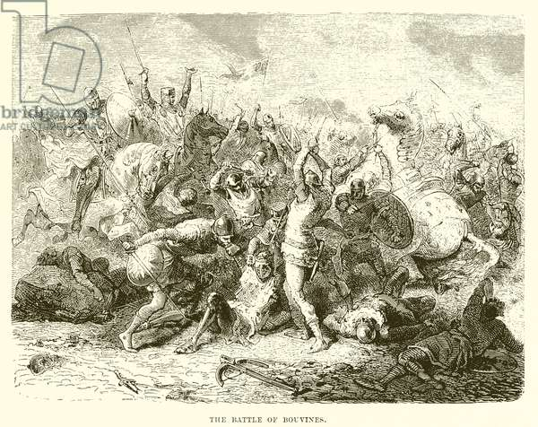 The battle of Bouvines (engraving)