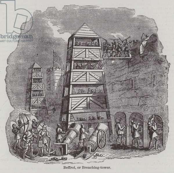 Beffroi, or Breaching-tower (engraving)