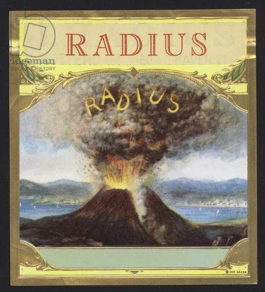 Radius, volcano erupting (chromolitho)