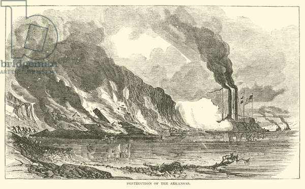 Destruction of the Arkansas, July 1862 (engraving)