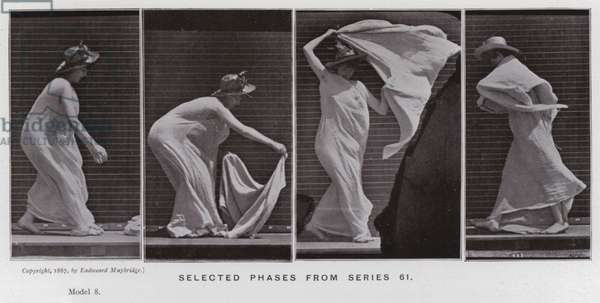The Human Figure in Motion: Selected phases from series 61 (b/w photo)