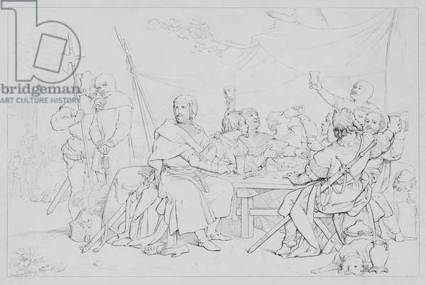 Episode from life of Robert Bruce, according to Sir Walter Scott (engraving)