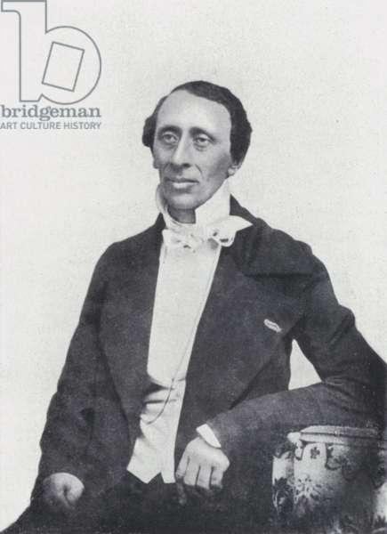 The poet Hans Christian Andersen (b/w photo)