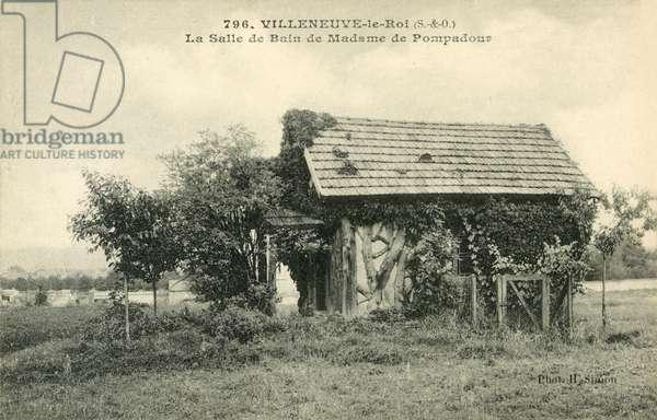 Villeneuve-Le-Roi, La Salle De Bain de Madame De Pompadour (b/w photo)