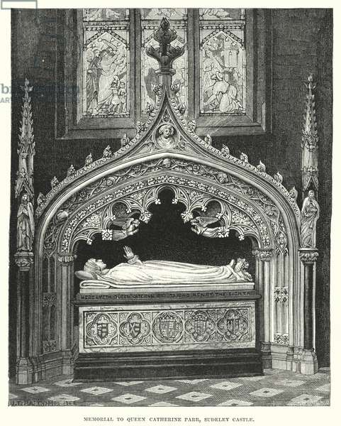 Memorial to Queen Catherine Parr, Sudeley Castle (engraving)